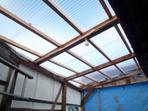 車庫屋根 完成2