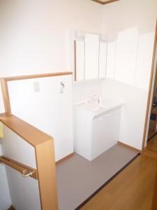 2階洗面洗濯スペース 完成