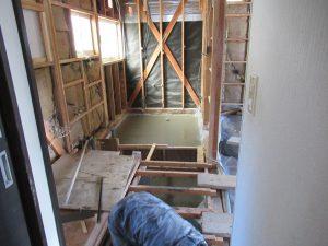 13土間打ち後浴室